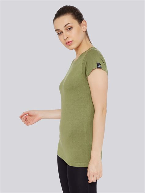 comfort wear women s classic t shirt olive green bamboo tribe