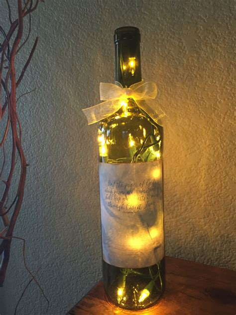 wine bottle light home decor recycled wine gift birthday