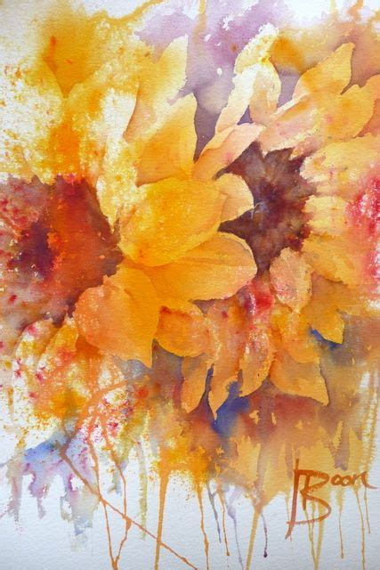 watercolor tutorial sunflowers sunflower watercolor painting joanne boon thomas this