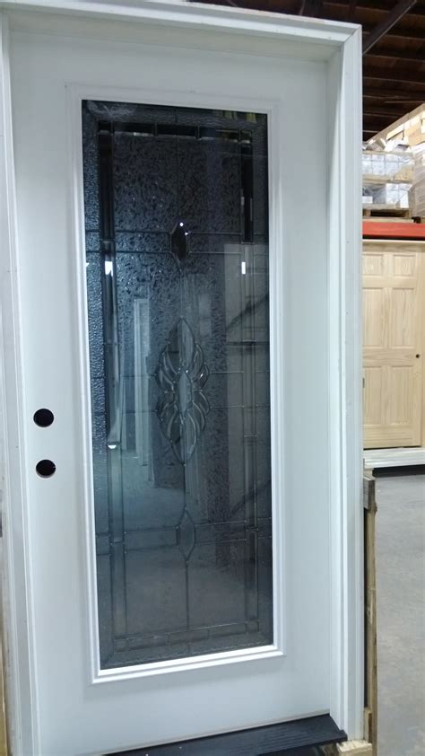 Entry Glass Door Exterior Pre Hung Door Decorative Glass Fiberglass Discount Sale In Stock Lancaster