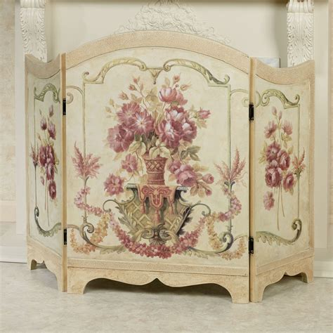 fancy fireplace screens floral melody decorative fireplace screen