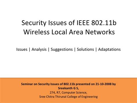 security issues of ieee 802 11b