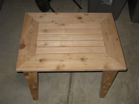 woodwork cedar outdoor side table plans  plans