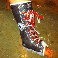 decorate your cast boot or crutches on