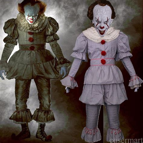 It Pennywise Clown Mask Costume pennywise costume stephen king s mask costume