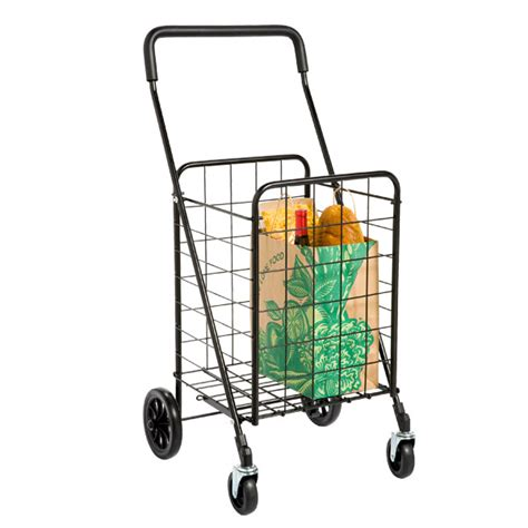 shopping cart black steel shopping cart the container store