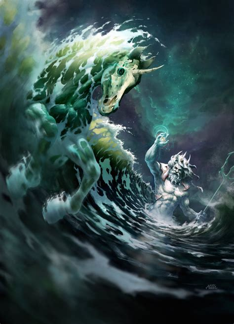 poseidon creation of the first horse by apocalypse tr on
