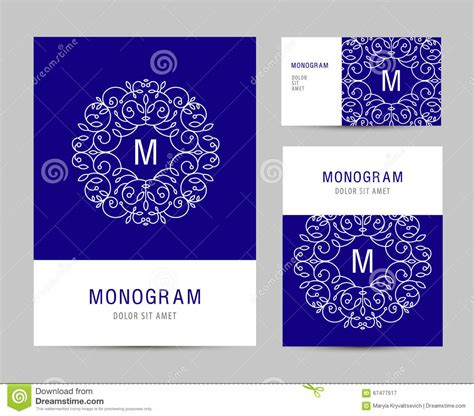 business card template with logo free monogram vector cards vector cartoondealer