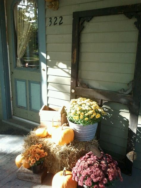my front porch fall display a little bit of everything pinterest