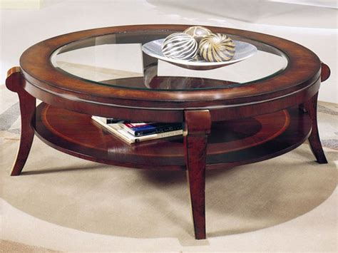 cappuccino round wood accent table with glass top ebay round coffee table with glass top roselawnlutheran