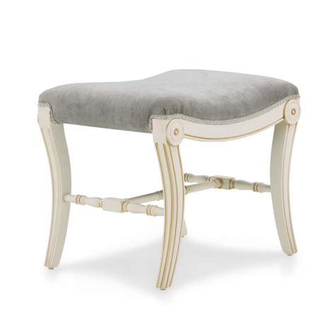 upholstered classic dressing table stool