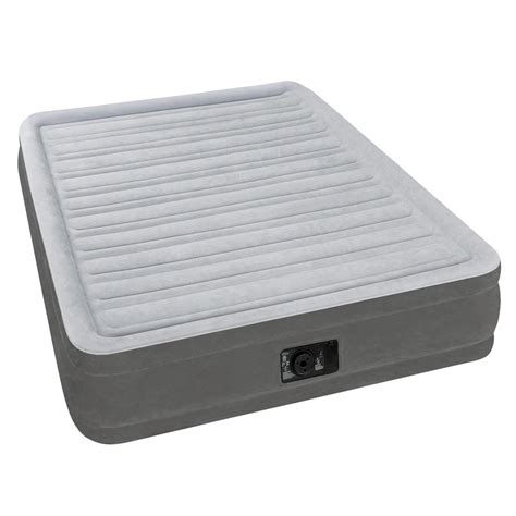 intex inflatable airbed full size built  electric pump
