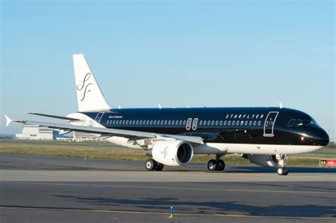Black Airbus starflyer s factory fresh airbus a320 is black and beautifulnycaviation