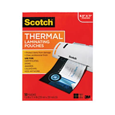 Office Depot Laminating by Scotch Thermal Laminating Pouches Letter Size 50 Pack By