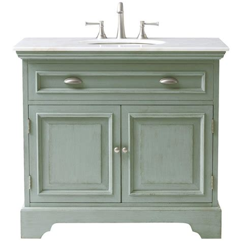 Home Decor Bathroom Vanities Home Decorators Collection 38 In W Bath Vanity In Antique Light Cyan With Marble