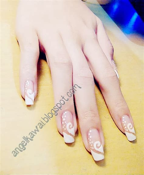 tutorial nail art yang simple angelkawai s diary simple nail art tutorial just white