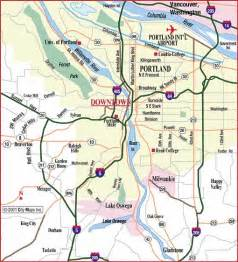road map of portland metro portland oregon