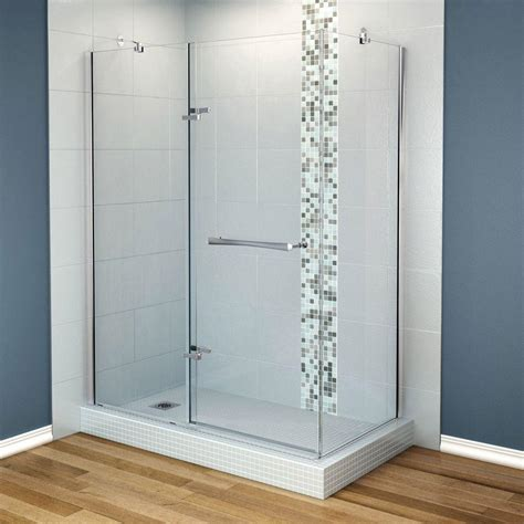 Maax Reveal 31 7 8 In X 60 In X 71 5 Corner Shower Reveal Shower Door