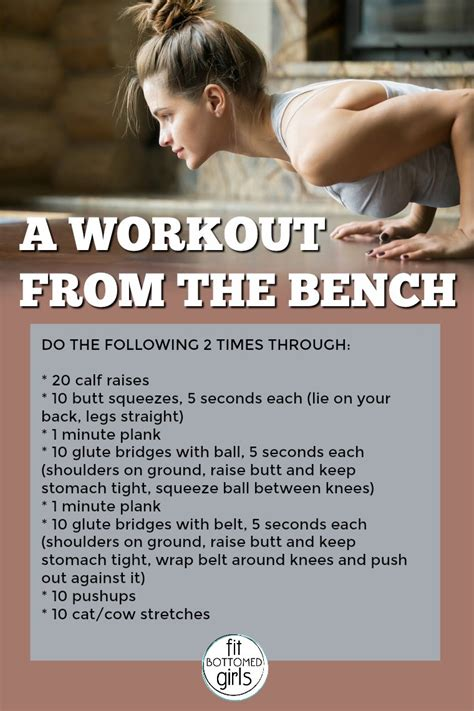 good workout bench a workout from the bench fit bottomed girls