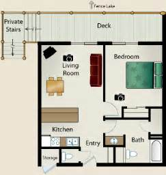 1 Bedroom House Floor Plans by Fence Lake Condos Lac Du Flambeau