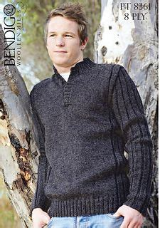 knitting pattern henley sweater patons eco wool chunky man s sweater knit it