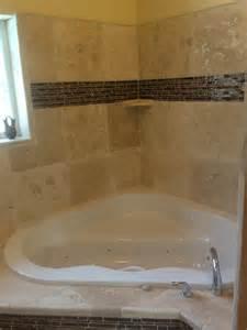 corner tub combo with shower and tile decofurnish