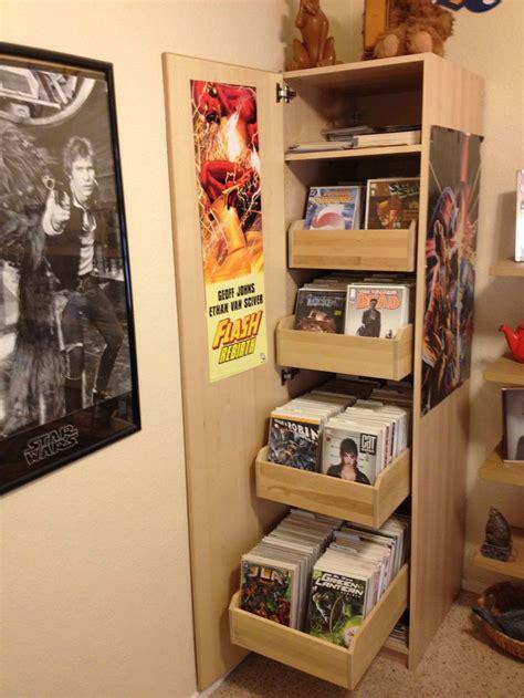 Comic Book Storage Cabinet Ikea Comic Cabinet Imgur Cave Pinterest