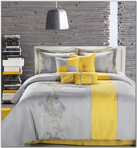 grey and yellow bedding yellow and gray bedding set beds home design ideas