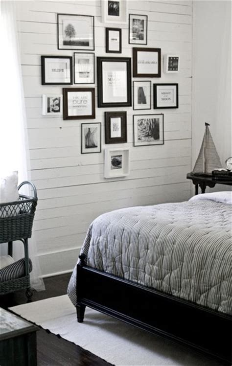 bedroom picture frames lettered cottage guest bedroom photo wall