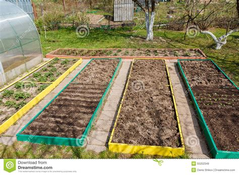 seed bed seedbed on the household plot stock photo image 55252349