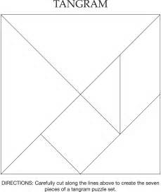 tangram pattern black with solid lines and instructions