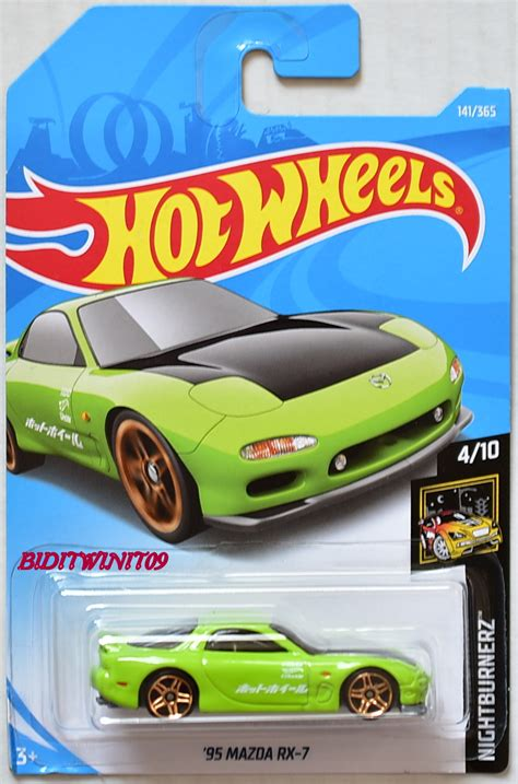 Hotwheels Reguler 95 Mazda Rx 7 Blue m2 machine 2018 auto thentics 1959 vw microbus deluse u s a model vw05 0008004 6 50