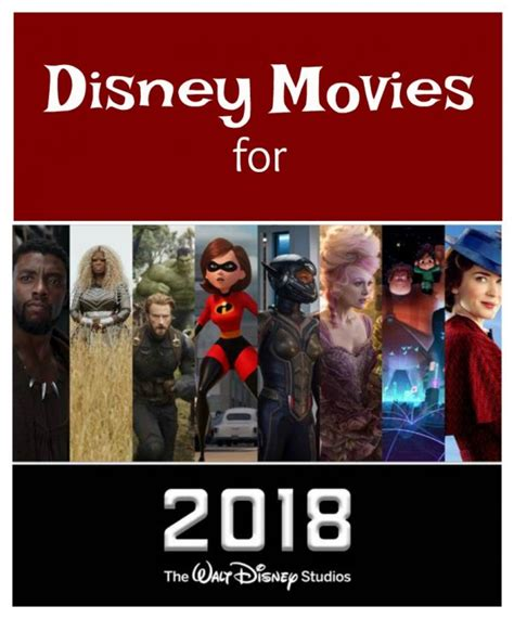 film recommended 2018 new disney movies for 2018 clever housewife