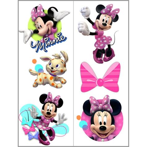 disney minnie mouse bow tique temporary tattoo sheets