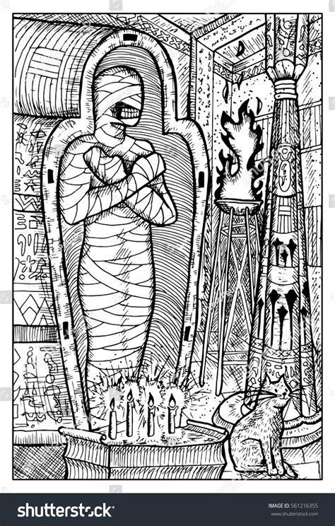 doodle release demons mummy mythological character ancient stock