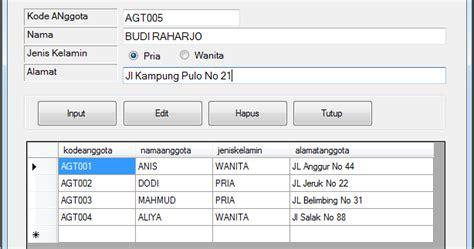 cara membuat html radio button cara input data menggunakan radio button pada vb net