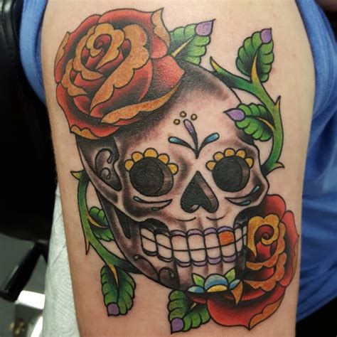 skull with roses tattoo meaning 60 best sugar skull designs meaning