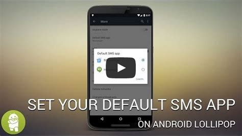 set default app android how to set your default sms app on android lollipop androidability