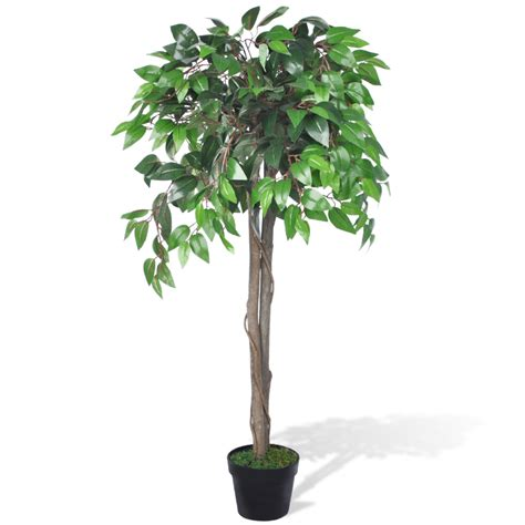 Home Decor France by Vidaxl Co Uk Artificial Plant Ficus Tree With Pot 110 Cm