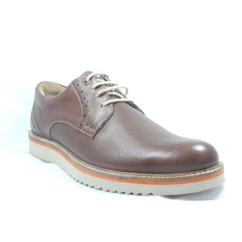 lotus brown leather lace up casual shoe lotus from