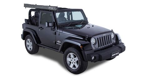 jeep wrangler awning sunseeker foxwing eco bracket kit jeep wrangler 2dr 32122 rhino rack