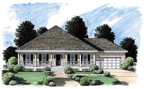 Low Country House Plans With Porches Eplans Low Country House Plan Covered Porch 1500 Square And 3 Bedrooms S From