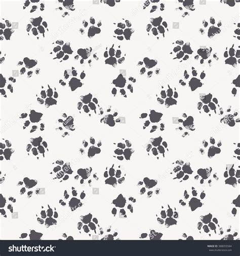 wolf pattern stock vector seamless pattern paw footprints dog stock vector