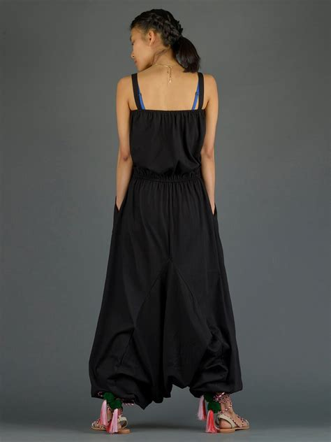 Jumpsuit V Pocket Zipper Terlengkap plain black cotton harem jumpsuit with pockets forgotten tribes