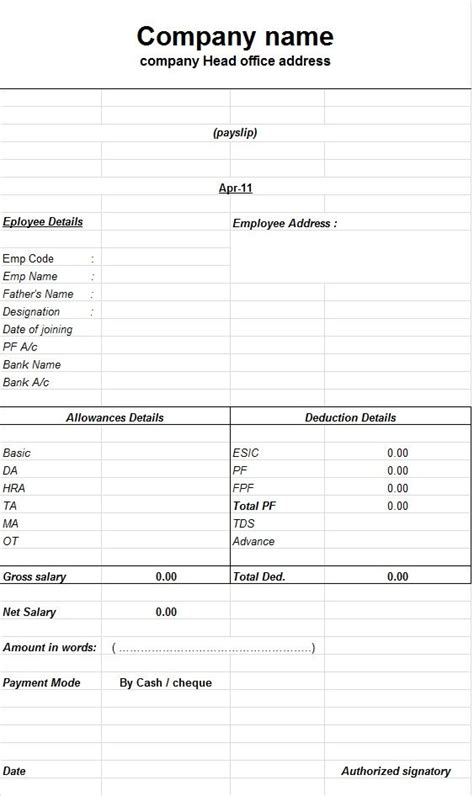 excel payslip template how to create a payslip templates using microsoft excel