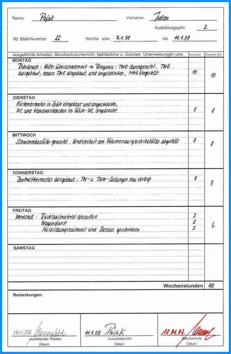 Wochenbericht Praktikum Vorlage Altenpflege vorlage praktikum wochenbericht 28 images word vorlage
