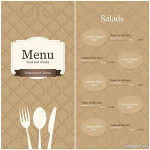 free menu design templates 4 designer continental menu template 10 vector