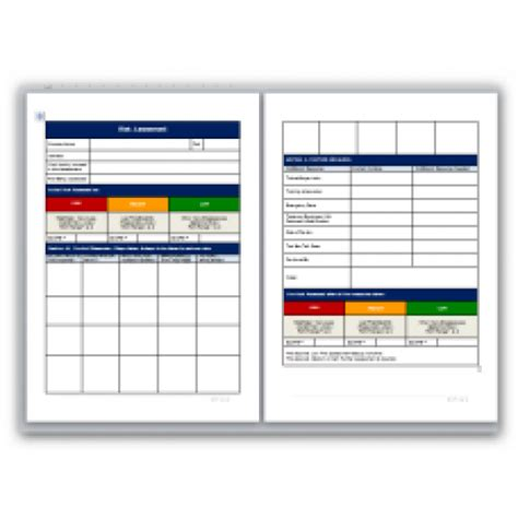 shop risk assessment template shop risk assessment template blank method statement and