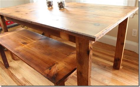 our custom made reclaimed wood dining room table domestocrat