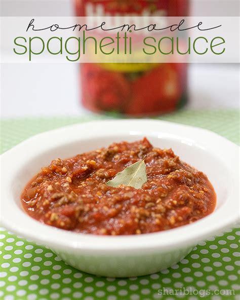 pasta sauce ideas homemade spaghetti sauce www shariblogs com spaghetti